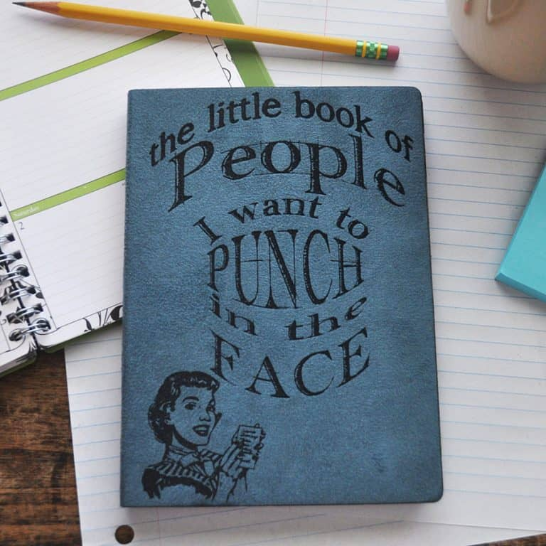 Everlasting Doodle People I Want To Punch In The Face Journal Cool Gift Idea