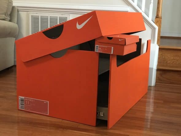 Giant Nike Shoe Box Sneakerhead Gift Idea