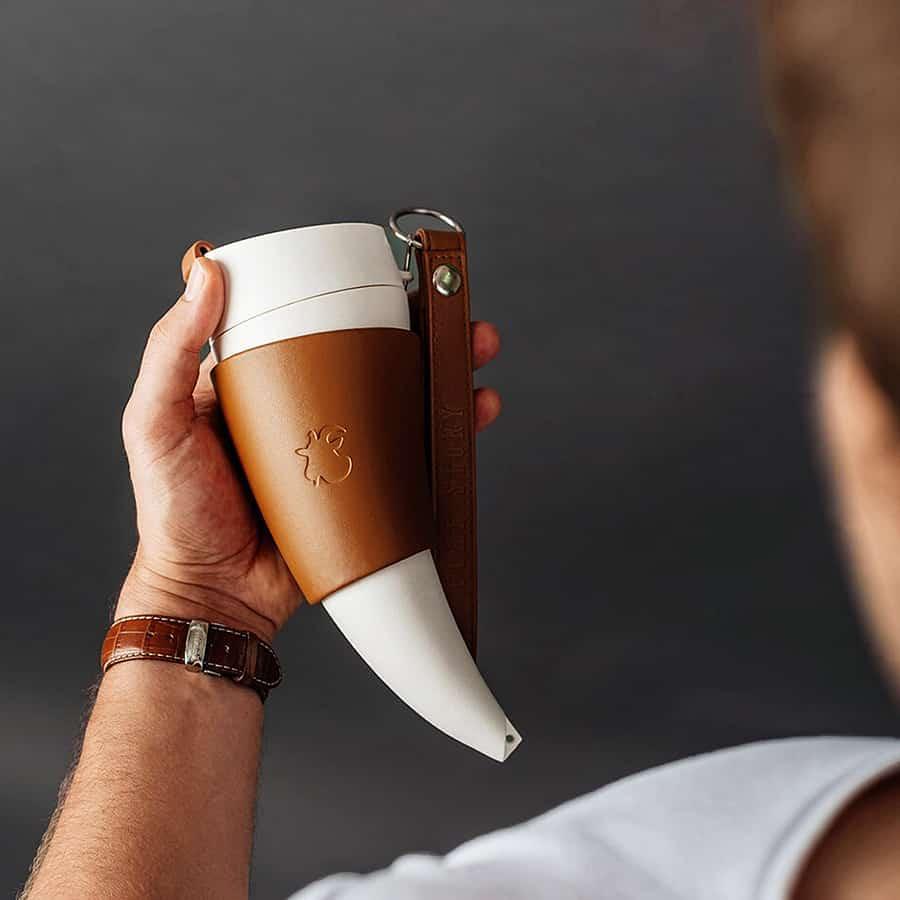 Goat Story Horn Shaped Mug Gift Idea