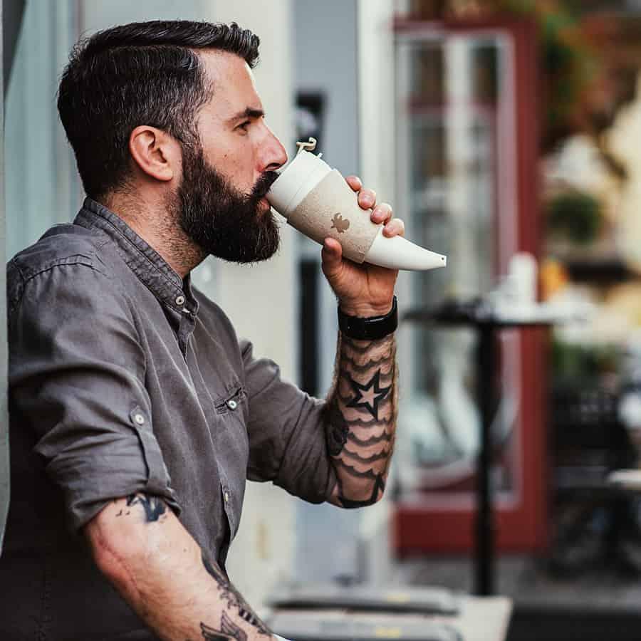 Goat Story Horn Shaped Mug Nice for Coffee