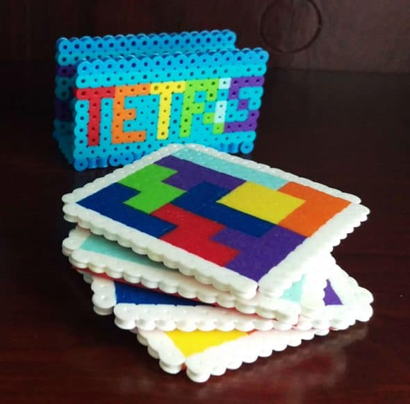 Good Golly Mister Tetris Themed Coasters Gift Idea