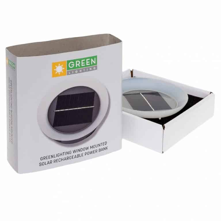 Green Lighting Solar Phone Charger Portable Electronic