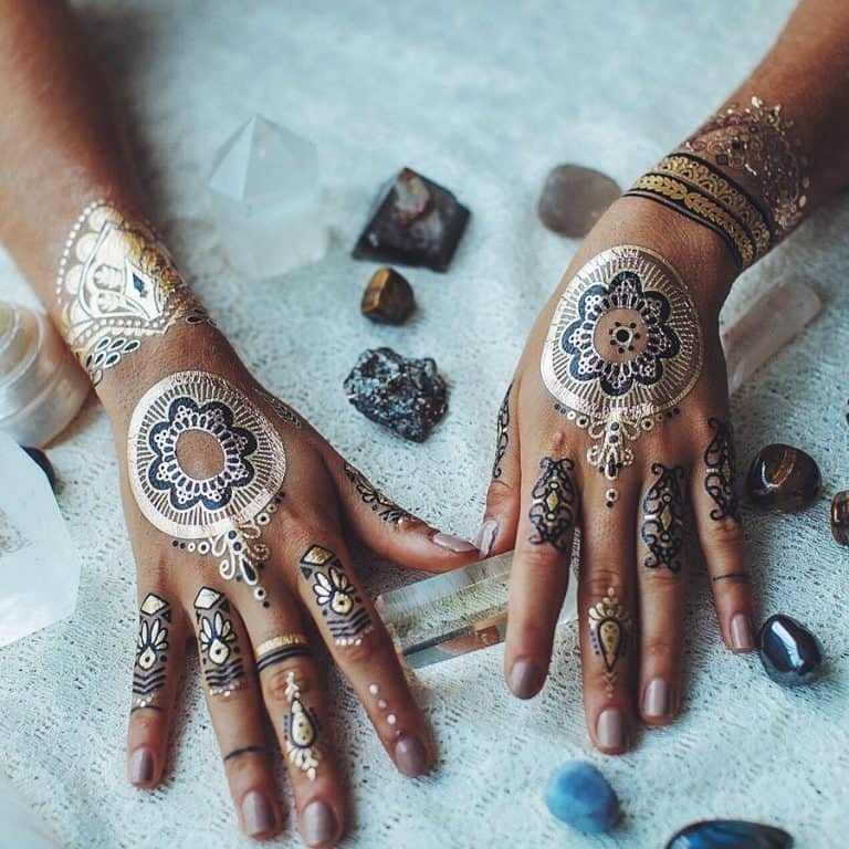 Iamu Collective Premium Metallic Henna Tattoos Cool Body Paint