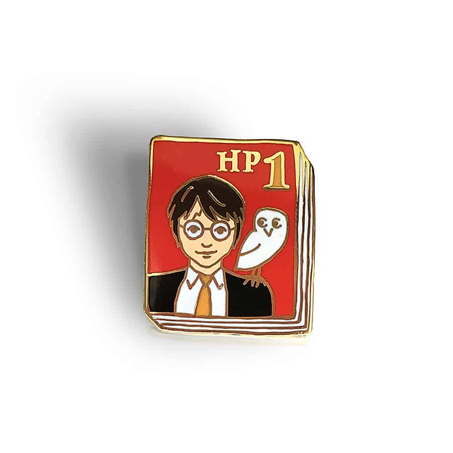 Ideal Bookshelf Harry Potter Book Badge Pin - NoveltyStreet