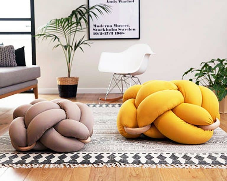 Knots Studio Knot Floor Pillow Cool Cushion