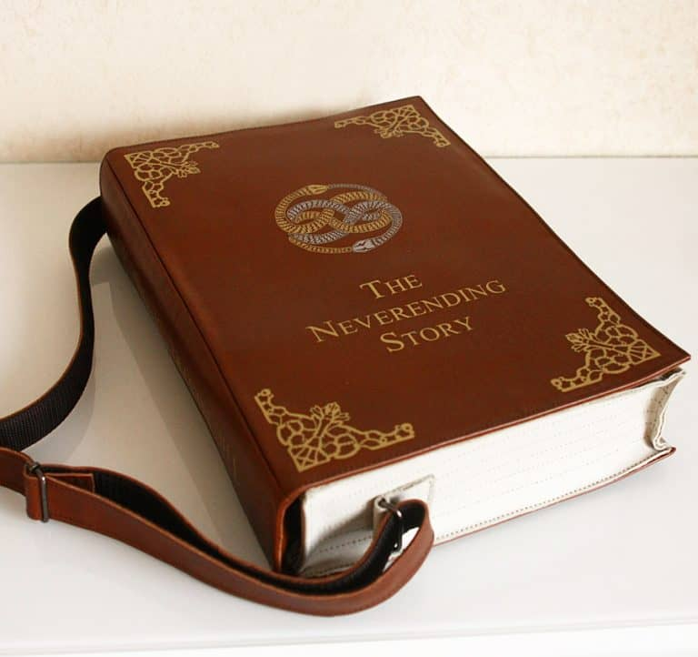Krukru Studio Neverending Story Leather Book Purse Gift Idea for Her