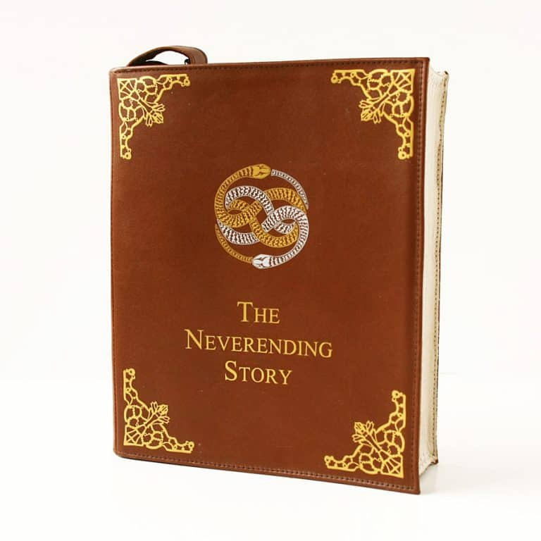Krukru Studio Neverending Story Leather Book Purse  Present for your girlfriend