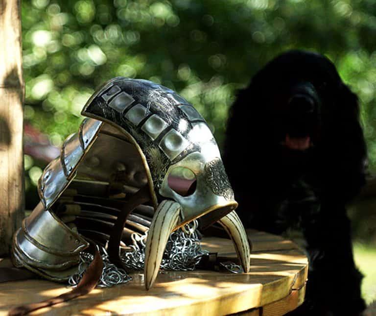 Lebovskiart Fantasy Dog Knight Armor Cool Pet Accessory