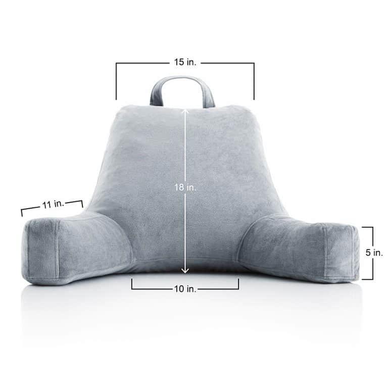 Linen Spa Shredded Foam Reading Pillow Cool Novelty Item