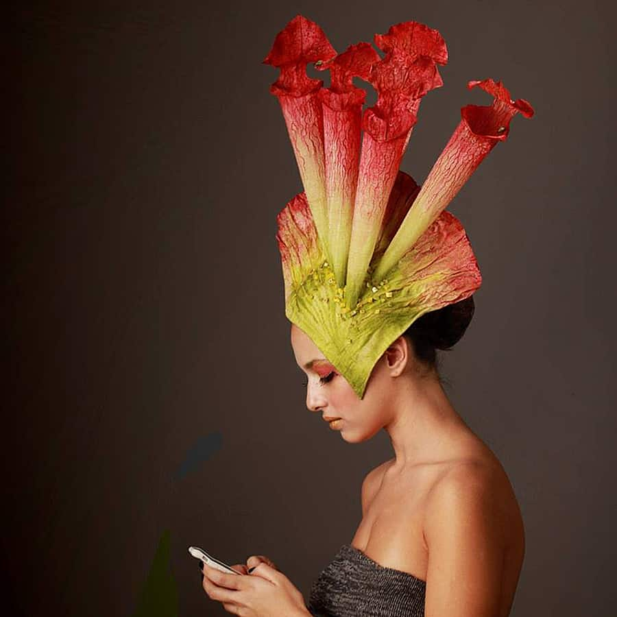 Wear the beauty and savagery of nature as a hat.