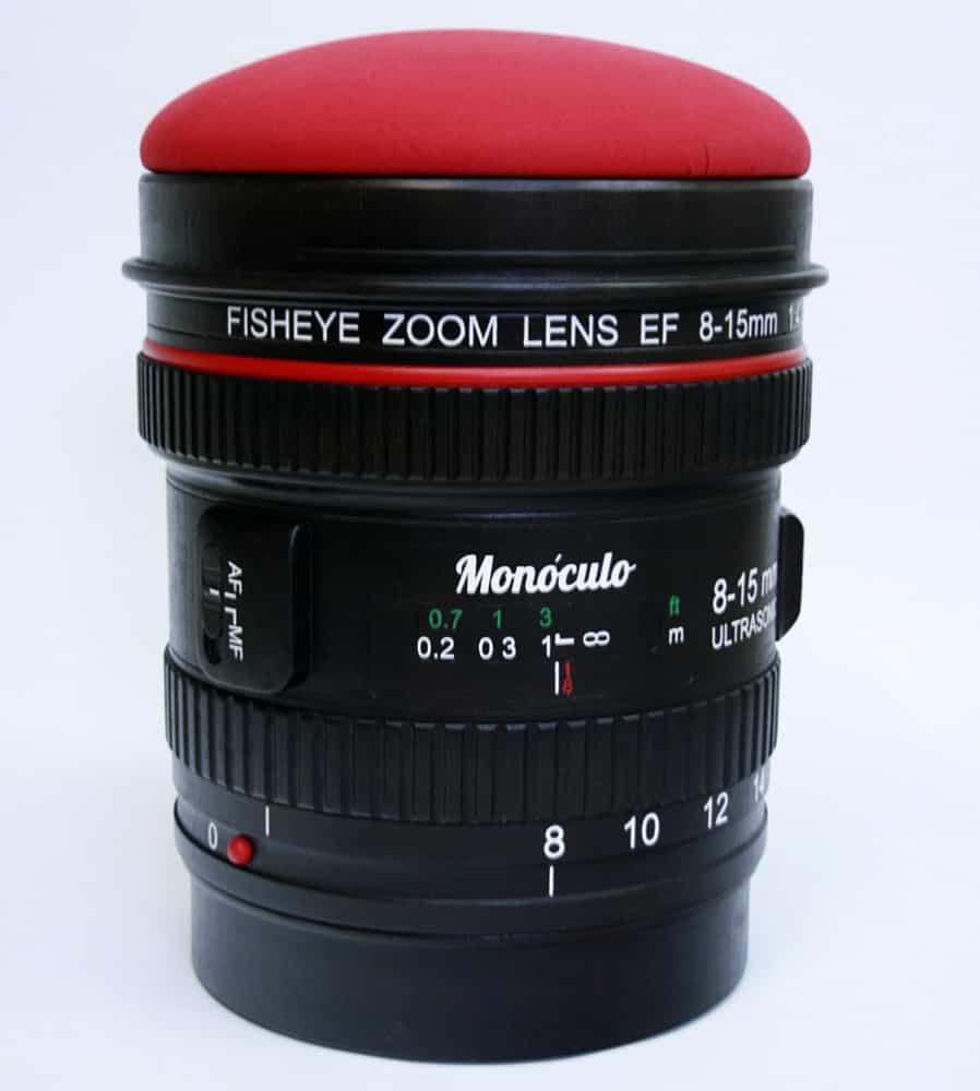 Monoculo Shop Camera Lens Shaped Stool Cool Novelty Item