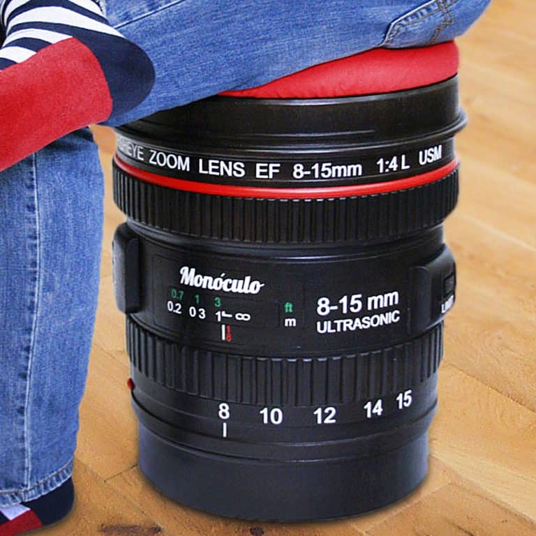 Monoculo Shop Camera Lens Shaped Stool Gift Idea