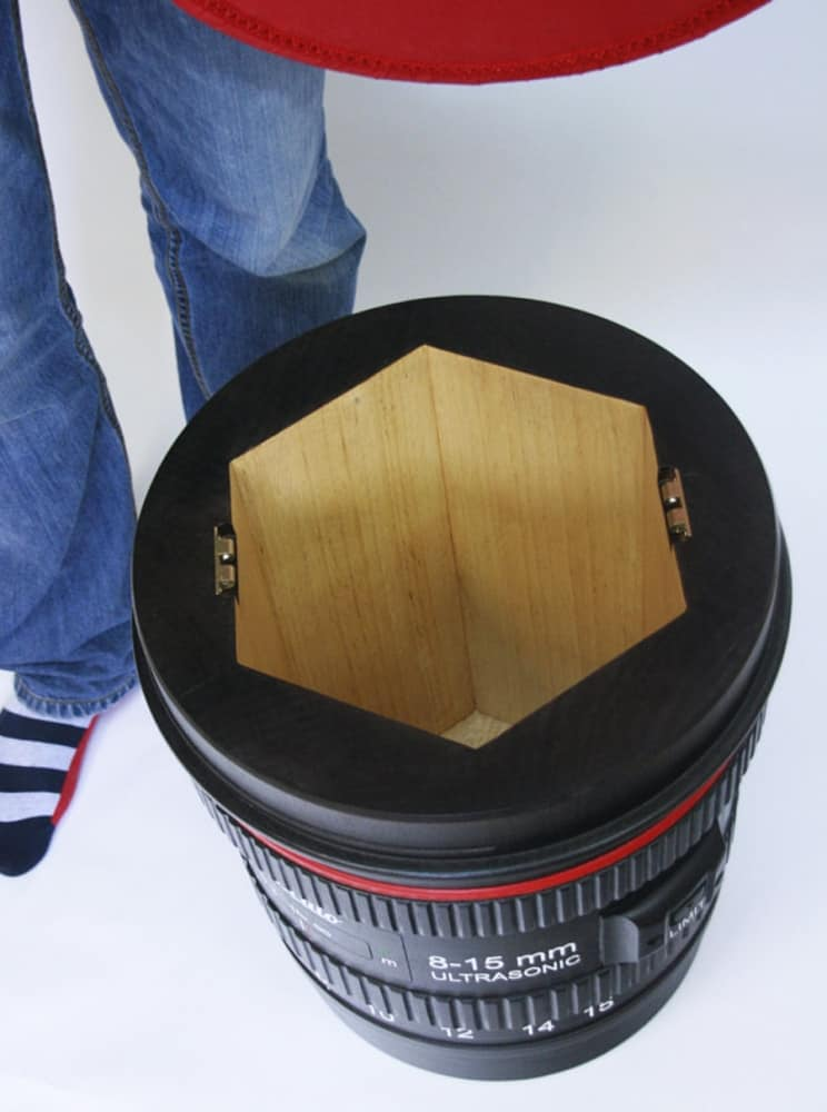 Monoculo Shop Camera Lens Shaped Stool Good Storage