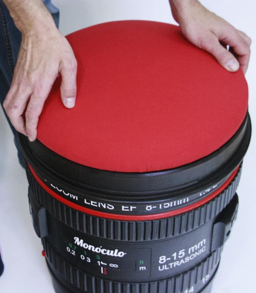 Monoculo shop camera lens shaped stool noveltystreet for Best lens for furniture photography