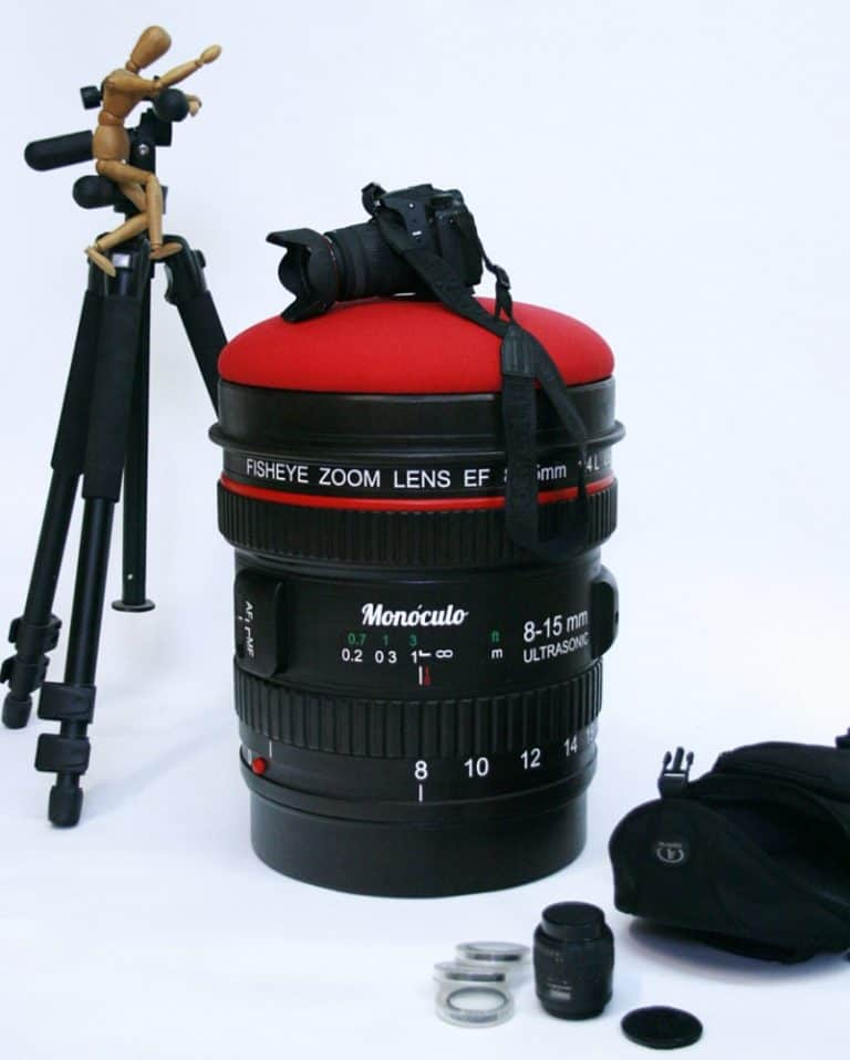 Monoculo Shop Camera Lens Shaped Stool Things to Have on your Studio