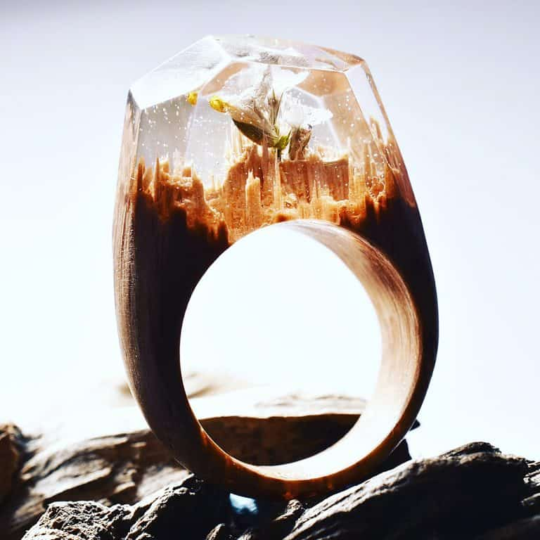 My Secret Wood Landscape Ring Awesome Jewelry