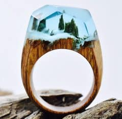 Your very own special place inside a wooden ring.