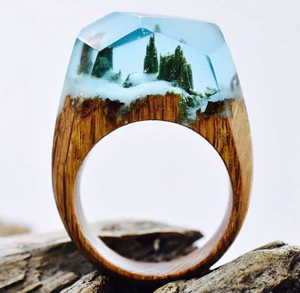 My Secret Wood Landscape Ring Gift Idea