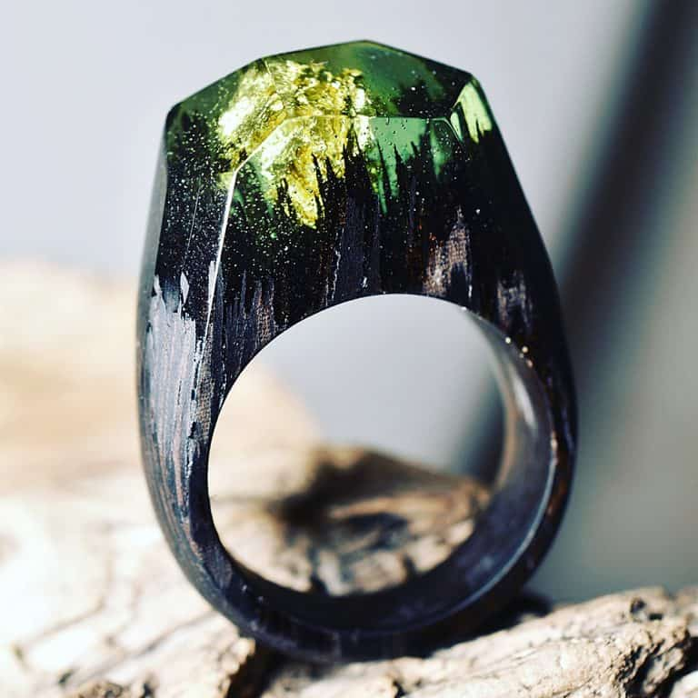 My Secret Wood Landscape Ring Good for Fashion