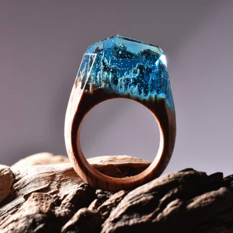 My Secret Wood Landscape Ring Novelty Item