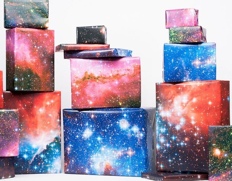 Norman's Printery Galaxy Print Gift Wrap Awesome Wraps