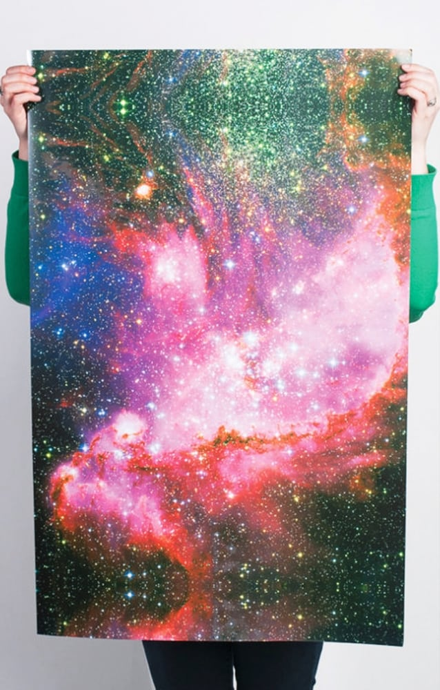 Norman's Printery Galaxy Print Gift Wrap Cool Cover