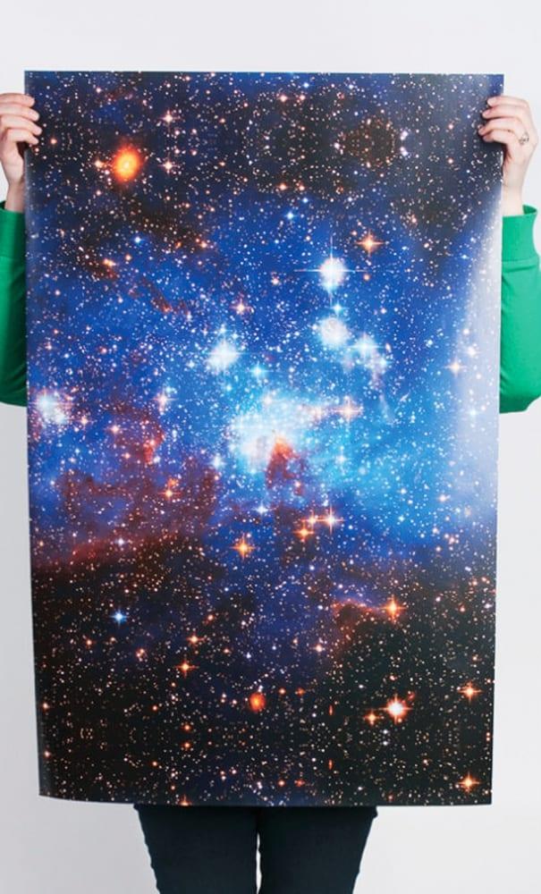Norman's Printery Galaxy Print Gift Wrap Giveaway Idea