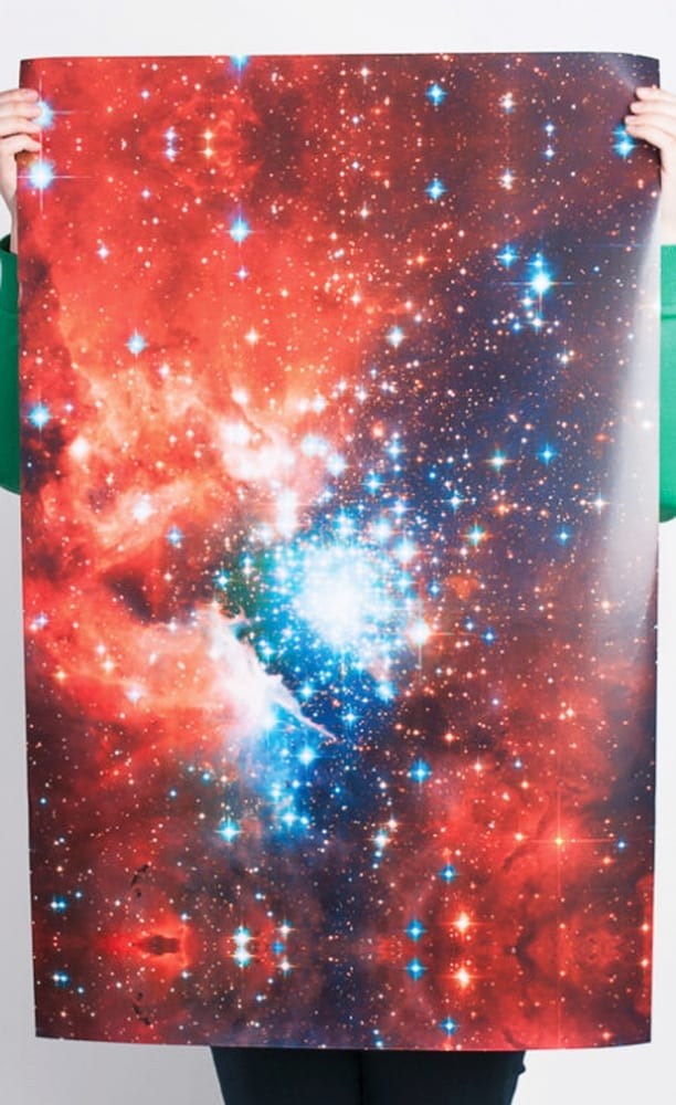 Norman's Printery Galaxy Print Gift Wrap Good for Gifts