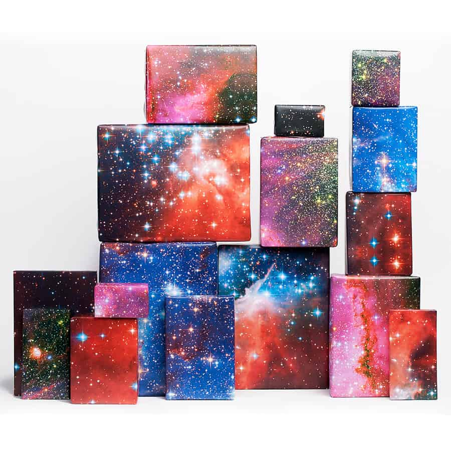 Normans printery galaxy print gift wrap noveltystreet out of this world gift wrapper negle Choice Image