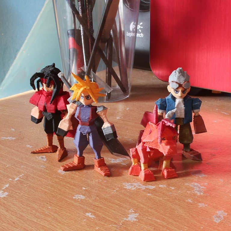 Pirate Ninjas Final Fantasy 7 3D Printed Miniatures Cool Collection