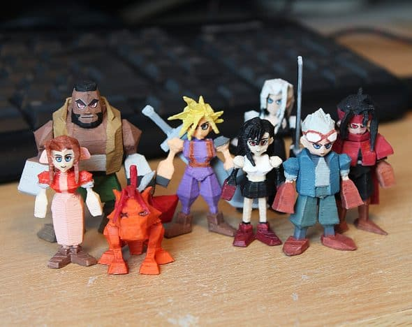 Pirate Ninjas Final Fantasy 7 3D Printed Miniatures Gift Idea for Home Decor