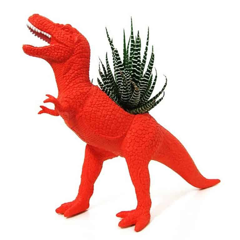 Plaid Pigeon Mac The Planted T-Rex Toy Planter Cool for Desktop