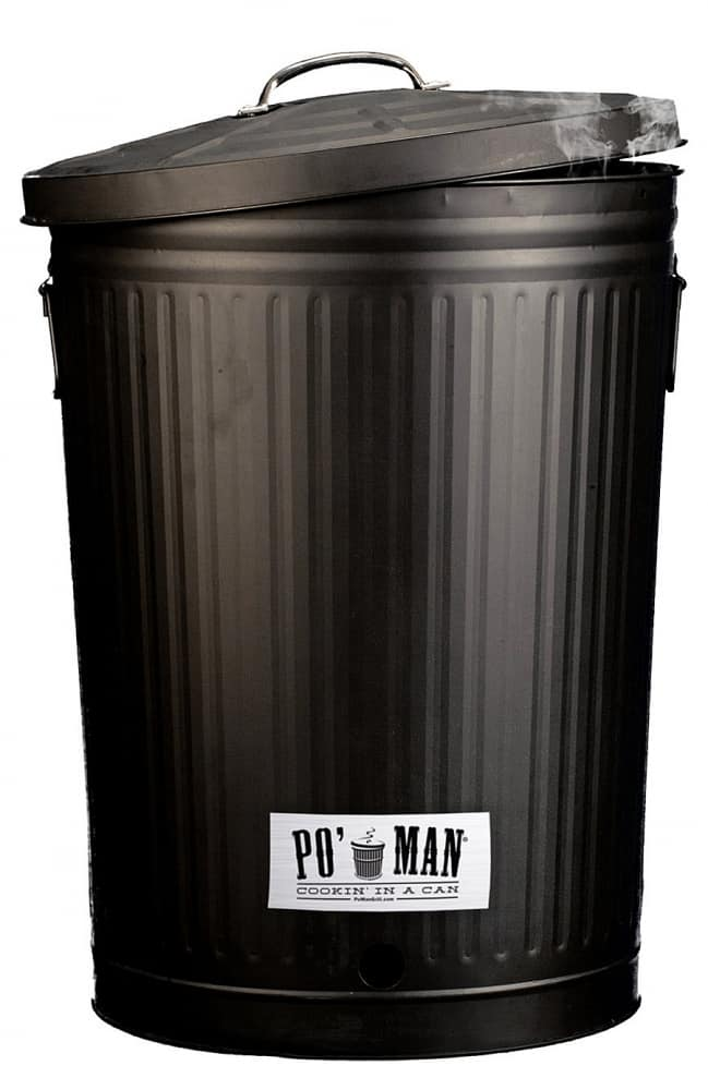 Po' Man Trashcan Charcoal Grill Awesome Novelty Item