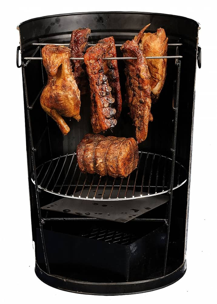 Po' Man Trashcan Charcoal Grill Fun way to barbecue