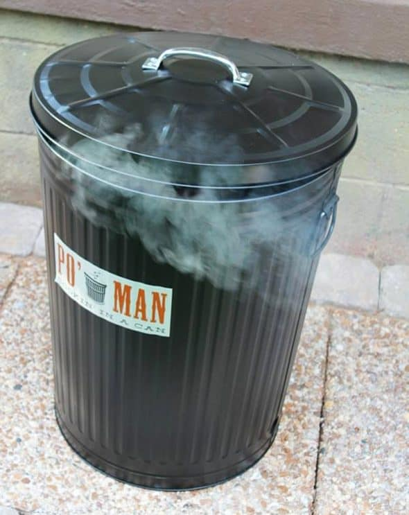 Po' Man Trashcan Charcoal Grill Gift Idea for Grilling