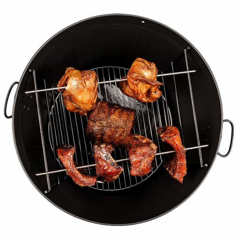 Po' Man Trashcan Charcoal Grill Good for Smoked Food