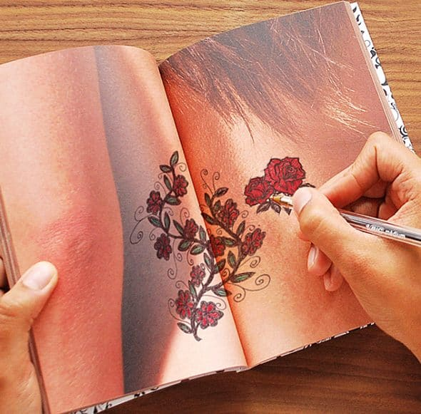 Suck UK Tattoo Art Drawing Notebook Nice Gift for Artist