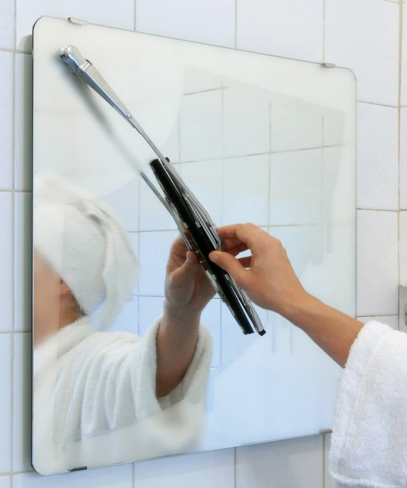 Keep bathroom mirrors clean and spot-free.