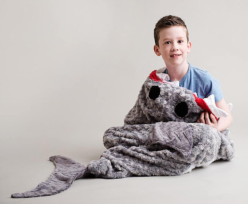 Tara's Cozy Creations Shark Blanket Cool Novelty Item