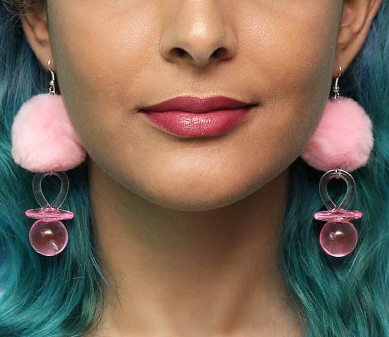 Tornasol Pacifier Pom Pom Earrings Good Gift Idea for Her