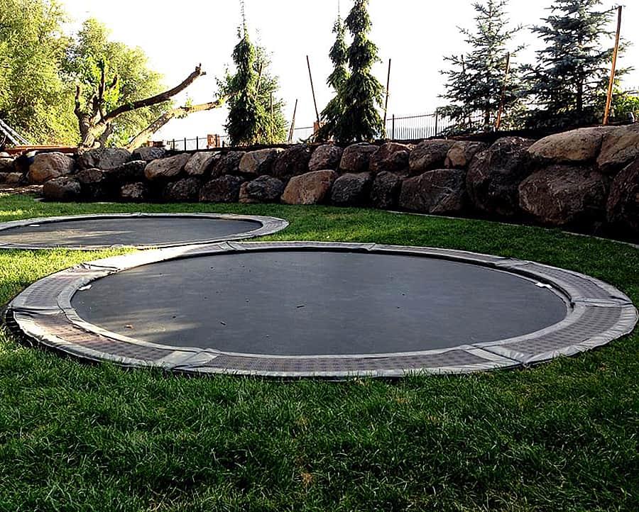 ground level trampoline home decor. Black Bedroom Furniture Sets. Home Design Ideas