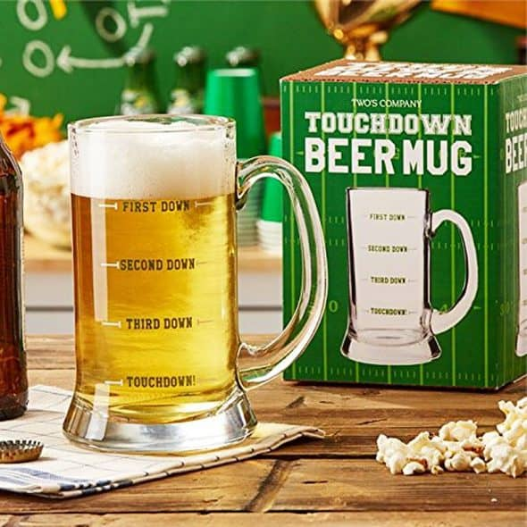 Two's Company Touchdown Beer Mug Cool Gift Idea