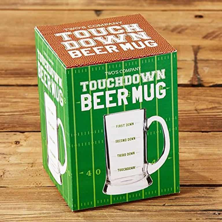 Two's Company Touchdown Beer Mug Nice Drinkware