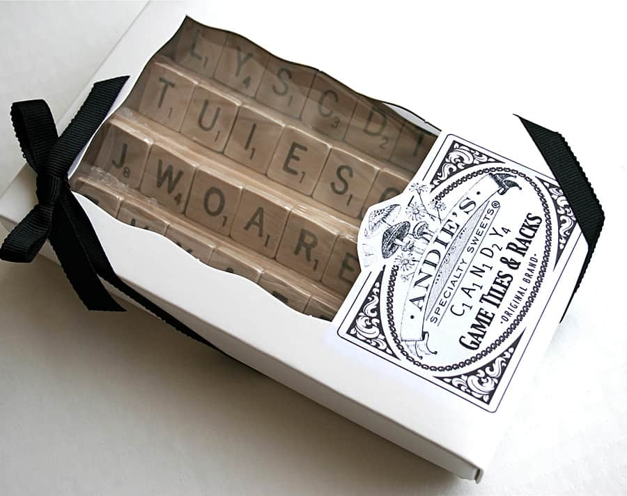 Andie Specialty Sweets Edible Game Tiles & Racks Awesome Food