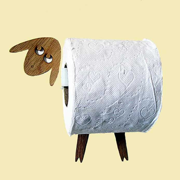 AntGl Sheep and Lamb Toilet Paper Holder Bathroom Decoration