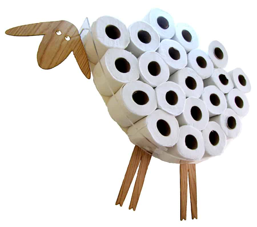 AntGl Sheep and Lamb Toilet Paper Holder Cool Storage