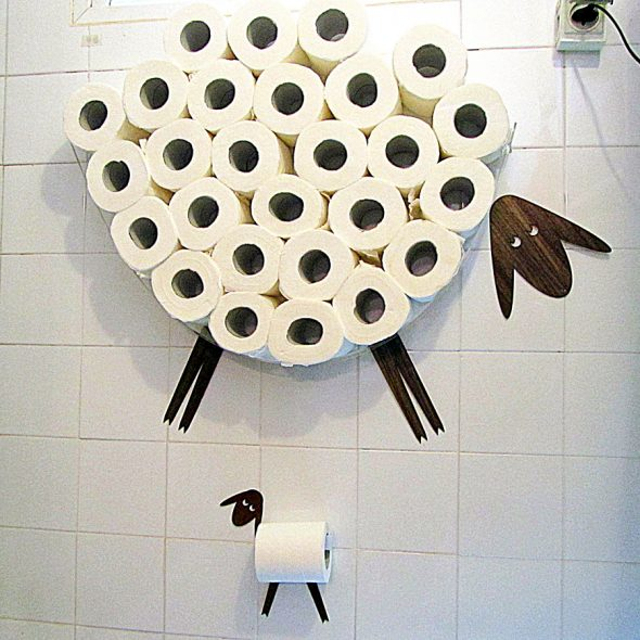 AntGl Sheep and Lamb Toilet Paper Holder Nice Home Shopping