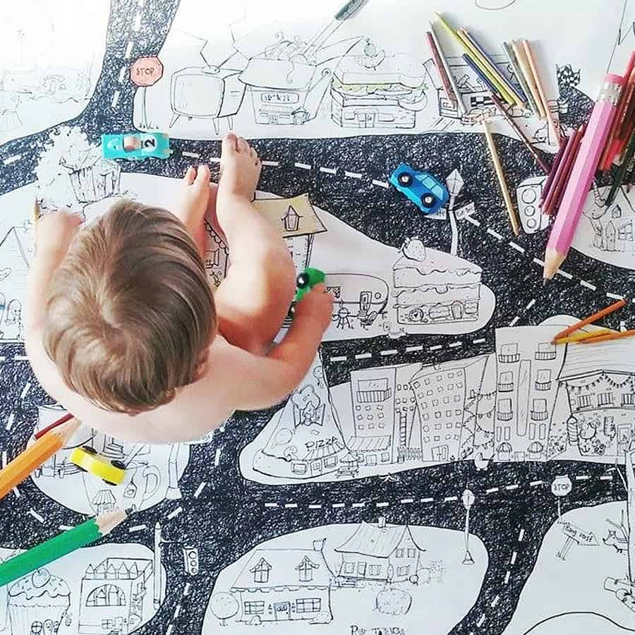 when a small coloring book is not enough for your kids coloring appetite - Giant Coloring Book