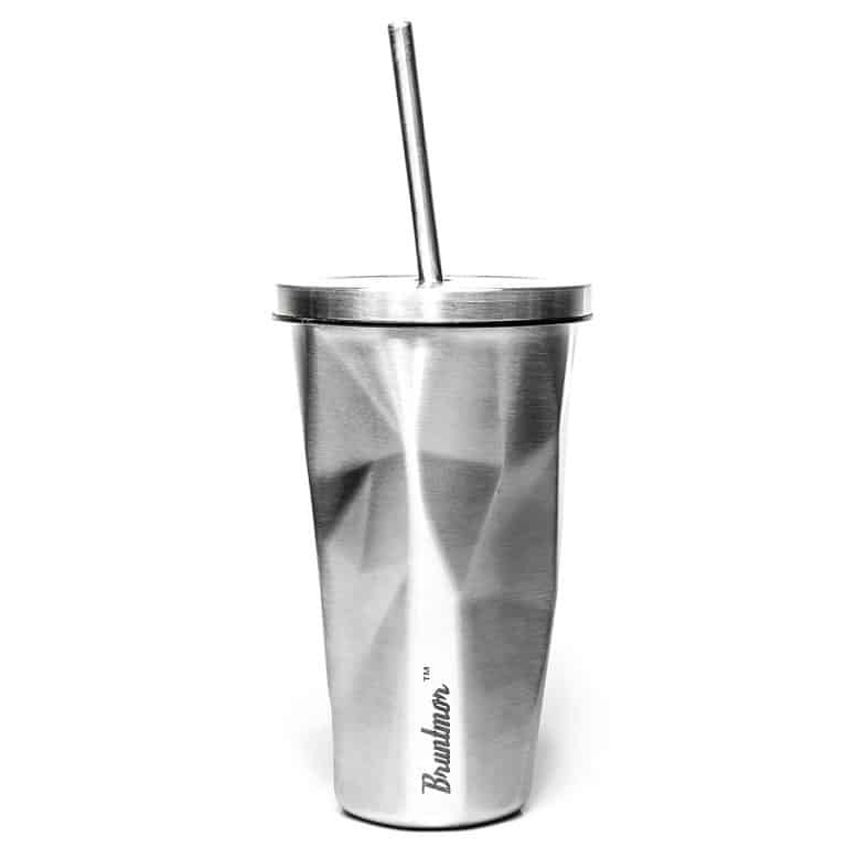Bruntmor Double Wall Chiseled Tumblers Good for Hot and Cold Drink