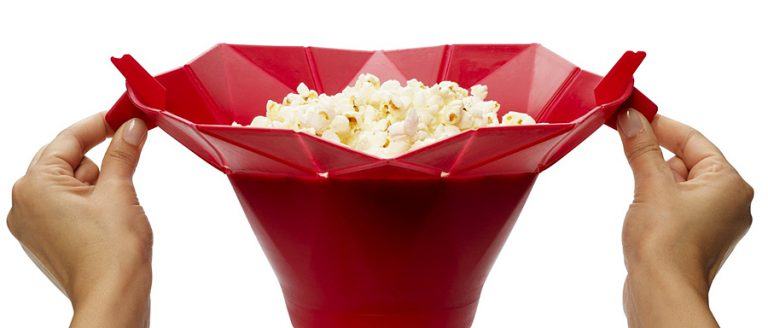 Chef'n PopTop Microwave Popcorn Popper Good for Watching Movies
